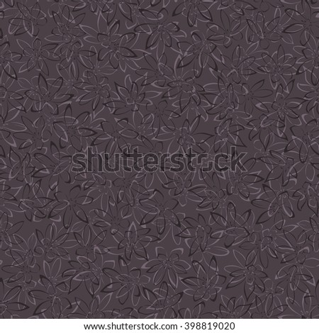 Seamless floral pattern on dark background vector illustration