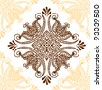 Seamless floral pattern or tattoo - stock vector