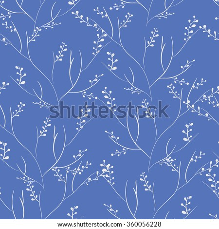 Seamless floral pattern. Pretty hand drawn background - stock vector