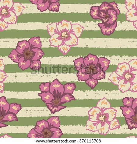 Seamless floral pattern. Retro background, for wrapping, wallpaper, fabric - stock vector