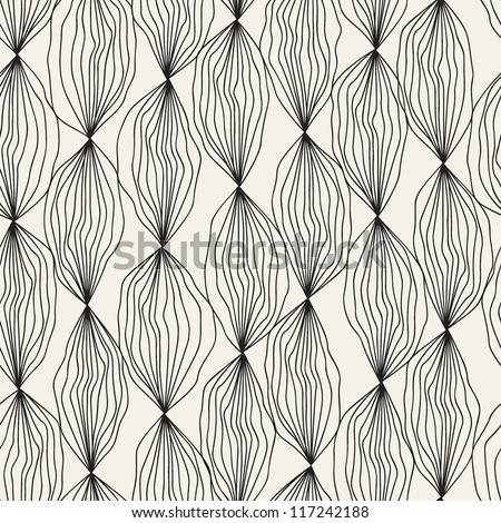 Seamless floral pattern. Stylish repeating texture - stock vector