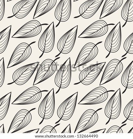 Seamless floral pattern. Stylish repeating texture. Repeating texture with leaves - stock vector