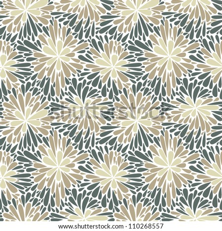 Seamless floral pattern. Texture with beige flowers