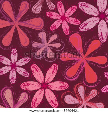 Seamless floral pattern vector - stock vector