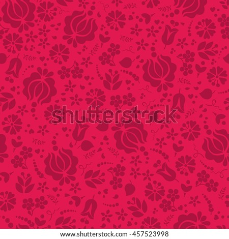 Seamless floral pattern . Vector background . - stock vector