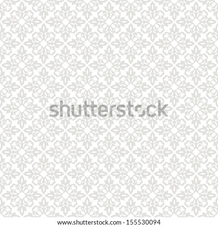 Seamless floral pattern. Vector gray background. - stock vector