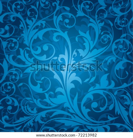 seamless floral pattern vector illustration - stock vector