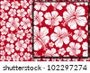 Seamless floral pattern whit hibiscus (hibiscus pattern, seamless hawaiian pattern wallpaper, seamless hibiscus flower background, hawaiian pattern) - stock vector