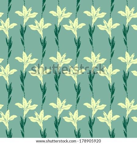 Seamless floral pattern with flowers - stock vector