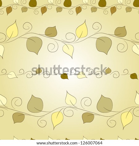 Seamless floral  pattern with leaves - stock vector