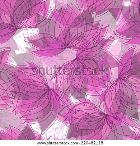 Seamless floral pattern with lotus