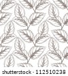 Seamless floral pattern with vintage leafs - stock photo