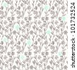 Seamless floral pattern with vintage simple flowers - stock photo