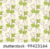 Seamless floral pattern with vintage stylized flowers and leafs; - stock vector