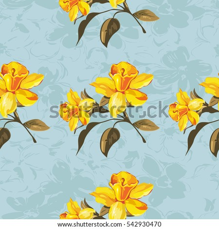 Seamless floral pattern yellow flowers vector stock photo photo seamless floral pattern with yellow flowers vector illustration eps8 mightylinksfo Gallery
