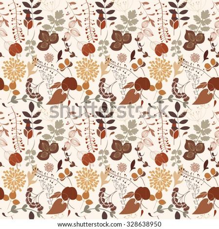 seamless floral texture - stock vector
