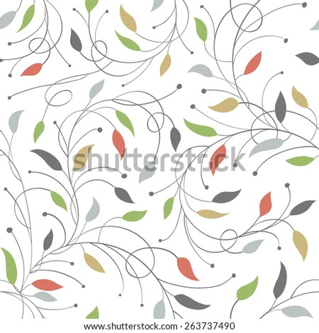 Seamless Floral Vector Pattern - stock vector