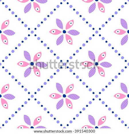 Seamless floral vector pattern. Ornamental background with flowers. Decorative repeating ornament, Series of Floral and Decorative Seamless Pattern. - stock vector