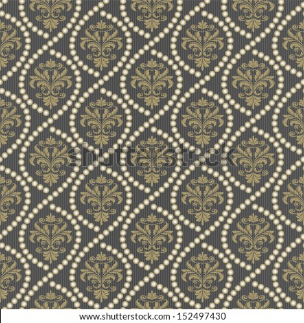 Seamless Floral Vintage Pattern - stock vector
