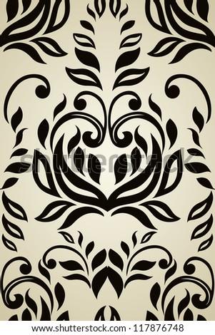Seamless floral wallpaper - stock vector