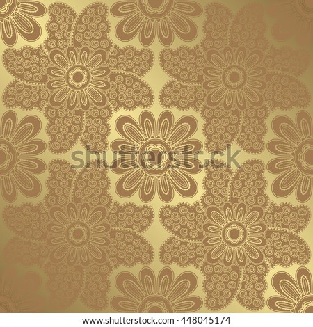 Seamless floral wallpaper. Vector background in pastel colors
