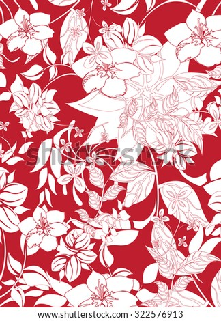 Seamless flower background - Illustration Flower, Single Flower, Backgrounds, Floral Pattern, Wallpaper