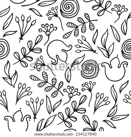 Seamless flower pattern. - stock vector