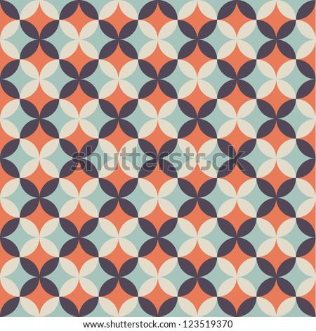 Seamless flower pattern background - stock vector