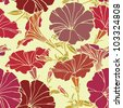 seamless flower pattern, floral vector - stock vector