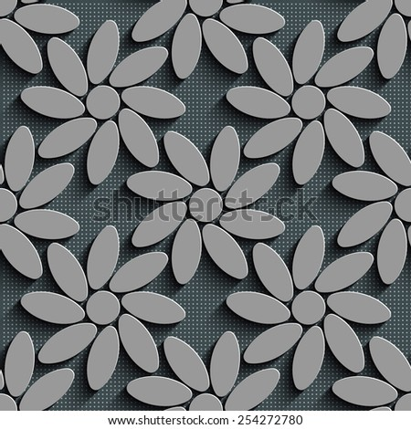 Seamless Flower Pattern. Vector Background - stock vector