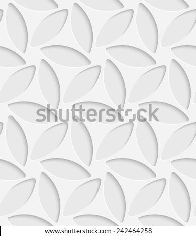 Seamless Flower Pattern. Vector Background. White Regular Texture - stock vector