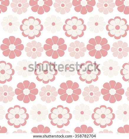 Seamless Flower pattern. Vector Illustration. EPS 8
