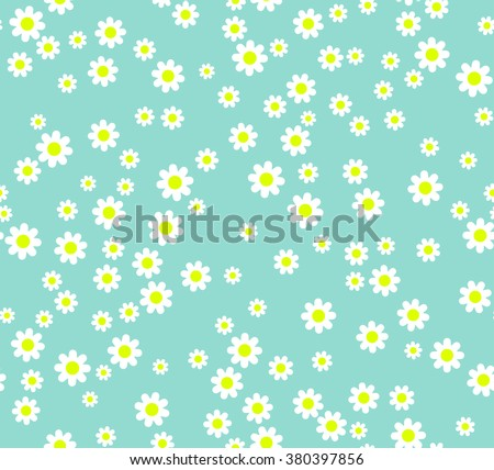 seamless flower pattern white daisies on stock vector