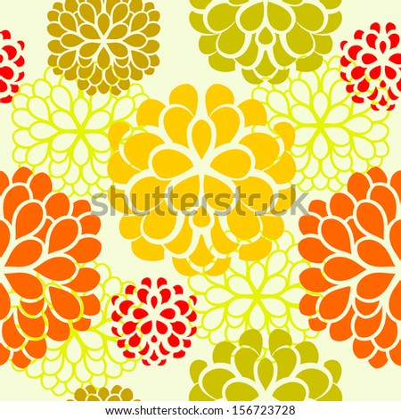Seamless flowers - stock vector