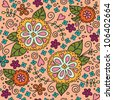 seamless flowers pattern. Can be used for wallpaper, pattern fills, web page background, surface textures. - stock photo