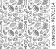 seamless food pattern - stock vector