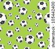 Seamless Football Pattern - stock photo
