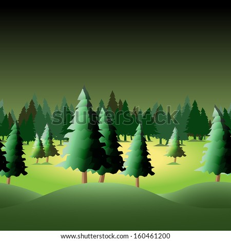 Seamless forest for your design, vector illustration, eps10 - stock vector