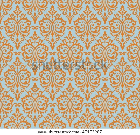 Seamless french style background - stock vector
