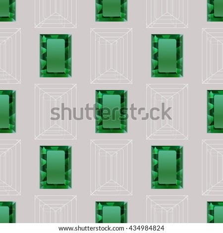SEamless from emeralds - stock vector