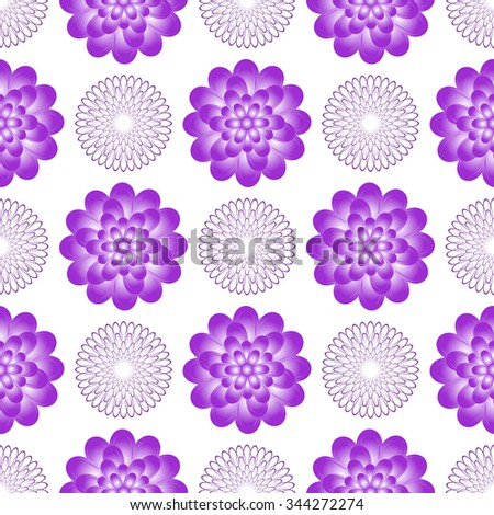 Seamless gentle floral pattern with vintage flowers, vector EPS 10 - stock vector