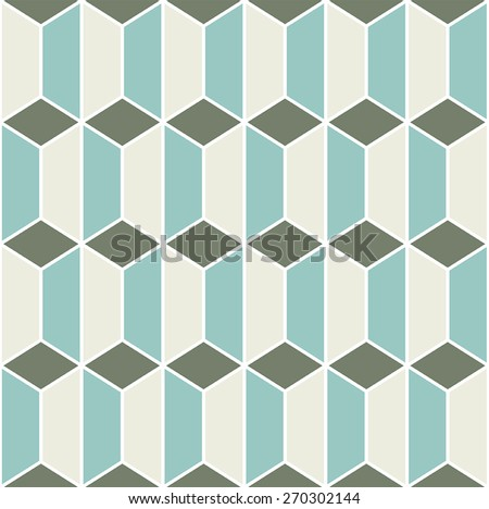 Seamless Geo Pattern - stock vector