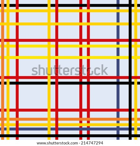 Seamless geometric abstract art modern - stock vector