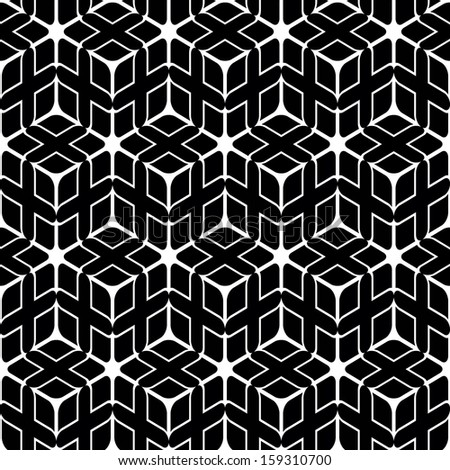 Seamless geometric abstract pattern. Black and white style pattern.