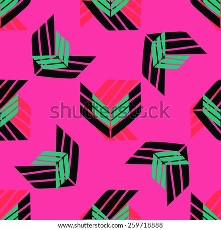 Seamless geometric abstract pattern design. - stock vector
