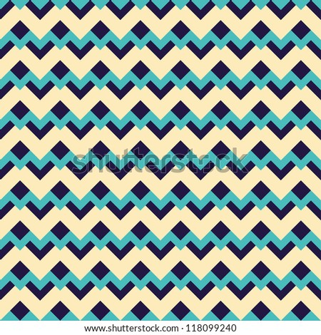 Seamless geometric abstract pattern with zigzags. Can be used in textiles, for book design, website background. - stock vector