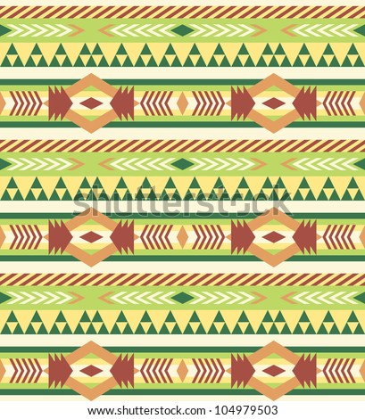 Seamless geometric aztec pattern #1