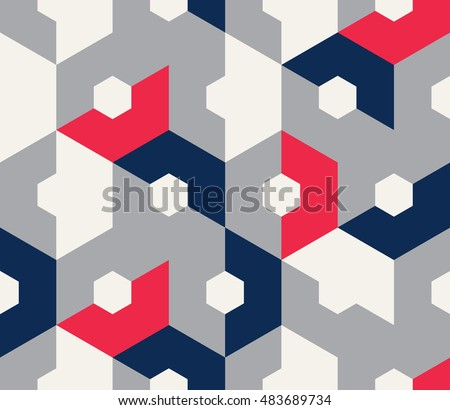 Seamless geometric background. Abstract hexagon pattern.