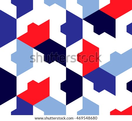 Seamless geometric background. Abstract pattern in sea color.