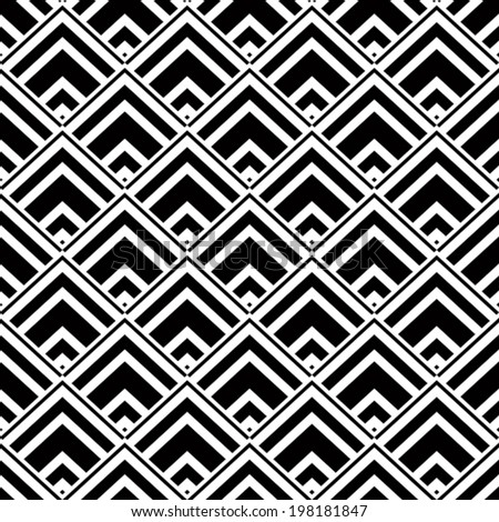 Seamless geometric background, simple black and white stripes vector pattern, accurate, editable and useful background for design or wallpaper.